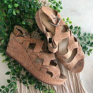 Donald J. Pliner Shoes - DONALD PLINER Women's Cork Strappy Sandal Wedges